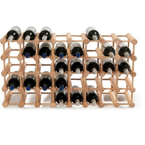 40 Bottle Hardwood Modular Wine Rack - The Wine Enthusiasts