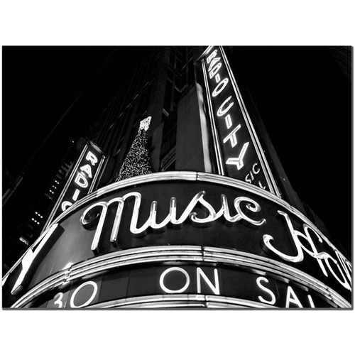 Trademark Global Yale Gurney 'Radio City' Canvas Art [Overall Dimensions : 18x24]