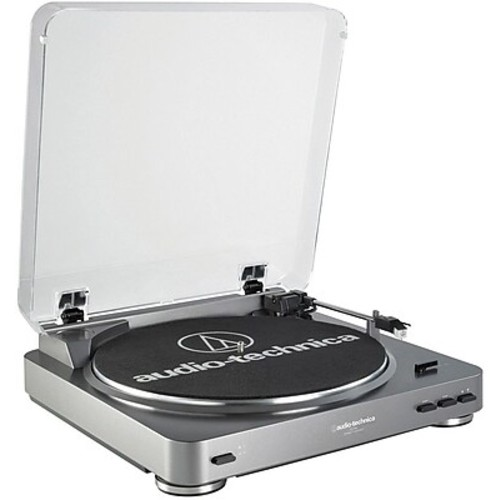 Audio-Technica AT-LP60 Fully Automatic Stereo Turntable System, 33-1/3 and 45 RPM