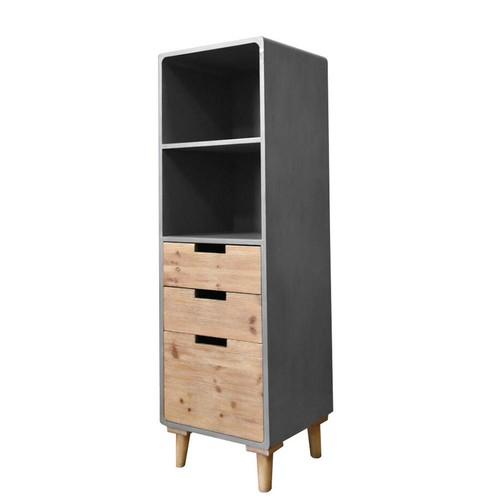 Gray Wood Storage Cabinet