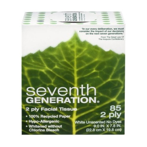 Seventh Generation 100% Recycled 2-Ply Facial Tissue [1-Pack]