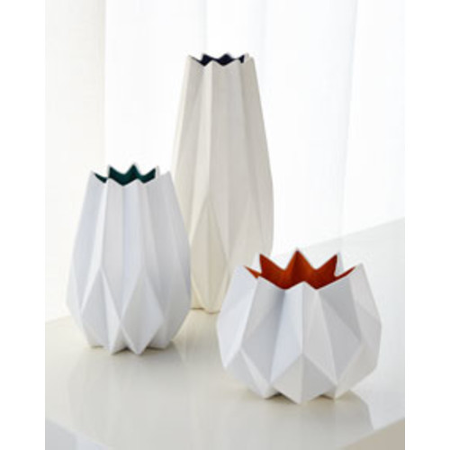 Large Two-Toned Matte Vase