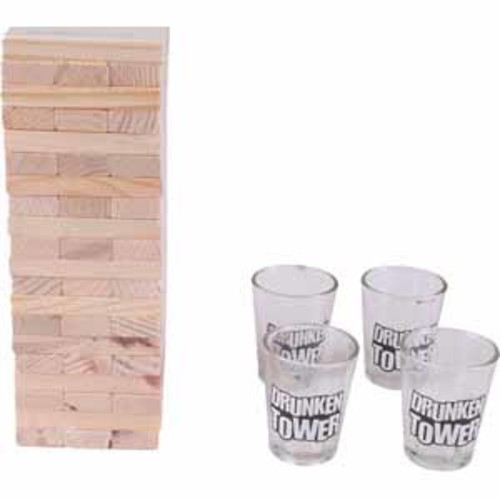 ProHT Wooden Tower Drinking Game
