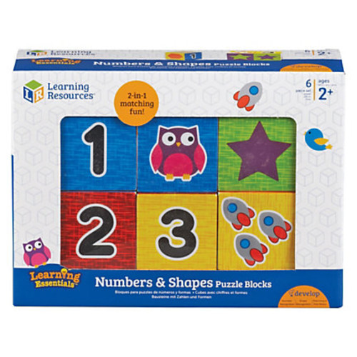Learning Resources Numbers Puzzle Blocks - Learning Theme/Subject - 14 (Numbers) Shape - Magnetic - Durable, Damage Resistant - 0.10