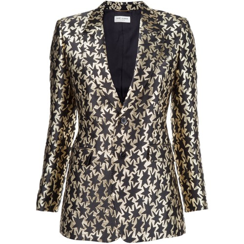 SAINT LAURENT Star Embroidered Blazer