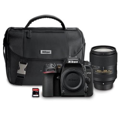 Nikon D7500 DSLR with 18-300mm VR Lens W/Tascam DR-10SG Camera-Mountable Mic