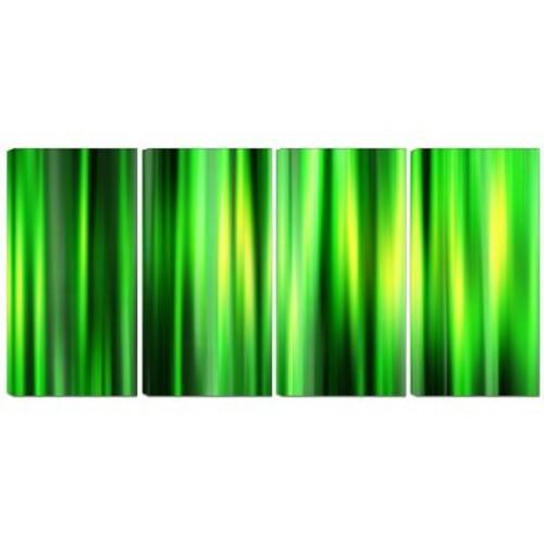 DesignArt Metal 'Abstract Bamboo' 4 Piece Graphic Art Set