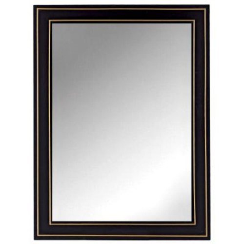 Home Decorators Collection Florence 30 in. x 40 in. Framed Wall Mirror in Black