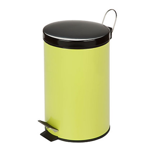 Honey-Can-Do Steel Step Trash Can, 3.2 Gallons, Lime Green