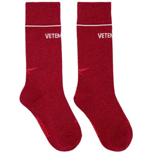 Red Reebok Edition Lurex Socks