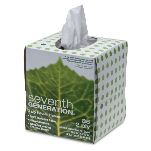 Seventh Generation 100% Recycled Facial Tissue [1-Pack]