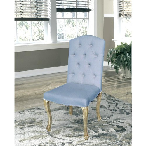 Lux Home Kerri Serenity Linen Dining Chair (Set of 2)