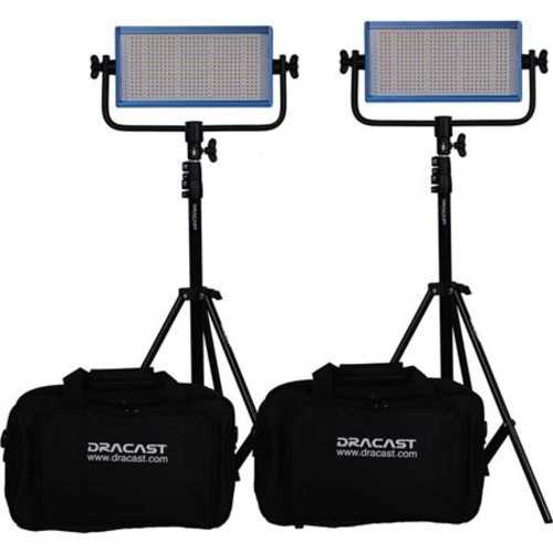 Dracast Pro Series Wedding Daylight Light Kit, 2x V-Mount Batteries DR-WEDK-DV