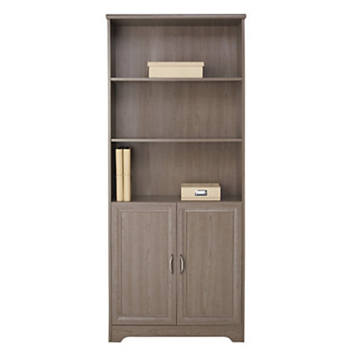 Realspace Magellan Collection 5-Shelf Bookcase With Doors, Gray