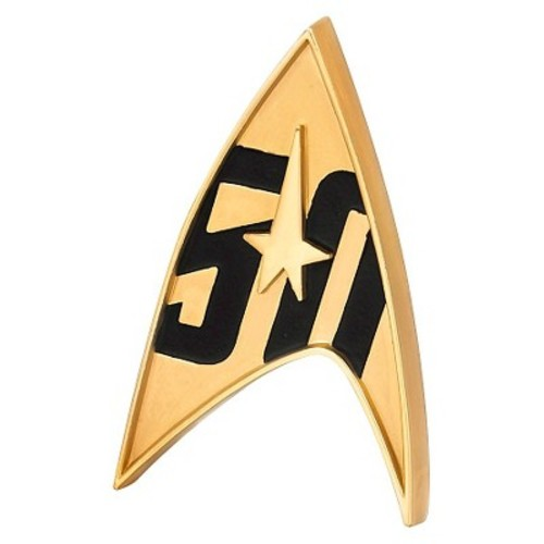 Quantum Mechanix Star Trek 50th Anniversary Magnetic Badge
