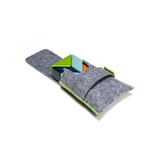 6 Piece Tegu Pocket Pouch Prism Magnetic Wooden Block Set, Nelson [Nelson, 6 Piece Sets]
