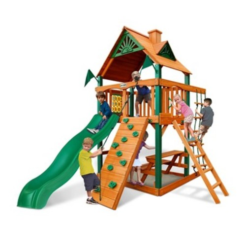 Gorilla Playsets Chateau Tower with Timber Shield