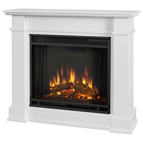 Real Flame - Devin Electric Fireplace - White
