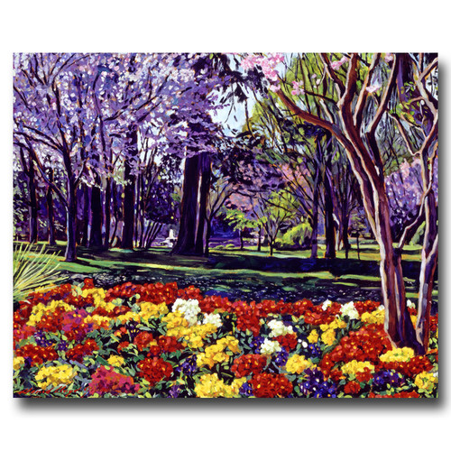 Trademark Global David Lloyd Glover 'Sunday in the Park' Canvas Art [Overall Dimensions : 26x32]