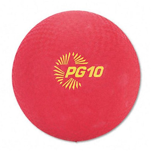 Champion Sports Playground Ball [Red, 10 Inch]