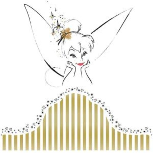 18 in. x 40 in. Disney Fairies - Tinkerbell Headboard 7-Piece Peel and Stick Giant Wall Decal