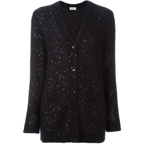 SAINT LAURENT Sequin Embellished Cardigan