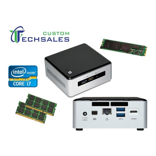 Intel NUC NUC5i7RYH Mini PC Core i7-5557U, 250GB M.2 SSD, 1TB HDD, 8GB RAM, Assembed and Tested by CustomTechSales