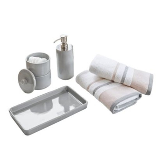Urban Habitat 5-Piece Demi Bath Accessory Set in Grey
