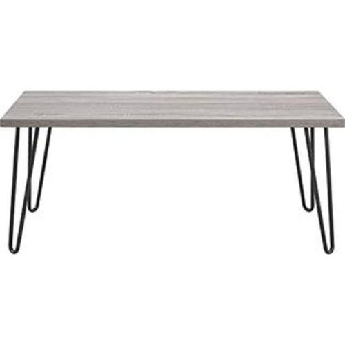 Altra Furniture Ameriwood Home Owen Retro Coffee Table with Metal Legs (Gray Oak/Gunmetal Gray)