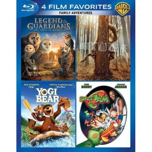 4 Film Favorites: Family Adventures: Legend Of The Guardians - The Owls Of Ga'Hoole / Where The Wild Things Are / Yogi Bear / Space Jam (Blu-ray) (Widescreen)