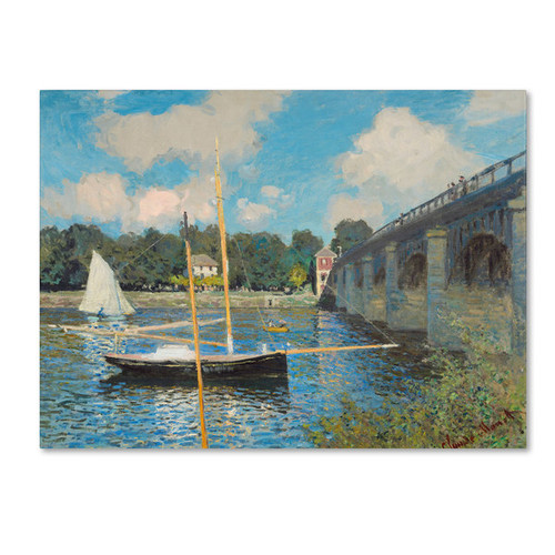 Claude Monet 'The Bridge at Argenteuil 1874' Canvas Art - Multi