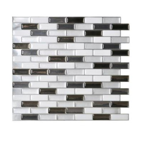 Smart Tiles Murano Metallik 10.20 in. W x 9.10 in. H Peel and Stick Decorative Mosaic Wall Tile Backsplash (12-Pack)