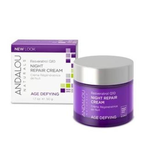 Andalou Naturals Resveratrol Q10 Night Repair Cream 1.7 oz Cream