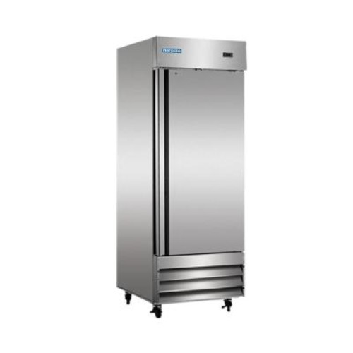 Norpole 23 cu. ft. Single Door Commercial Upright Reach-In Freezer in Stainless Steel