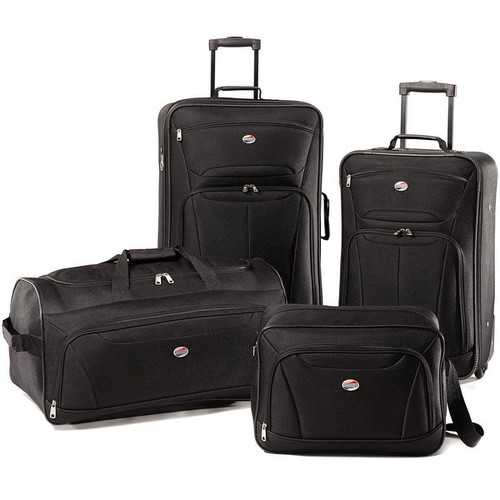 American Tourister Fieldbrook II Black 4-piece Rolling Luggage Set