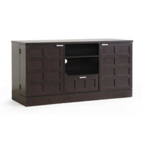 Baxton Studio S Tosato Brown Modern Tv Stand And Media Cabinet