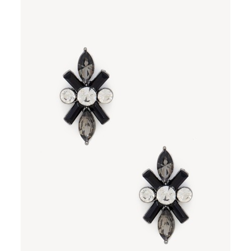 Crystal Crossover Stud Earrings