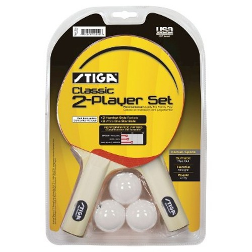 Stiga Classic Player Table Tennis 2 Player Racket Set