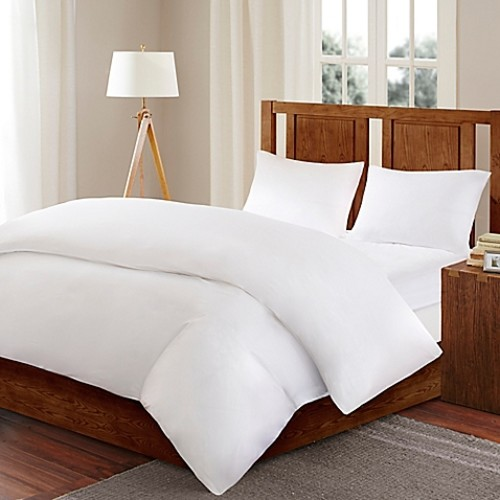 Sleep Philosophy Bed Guardian 3M Scotchguard Twin Comforter Protector in White