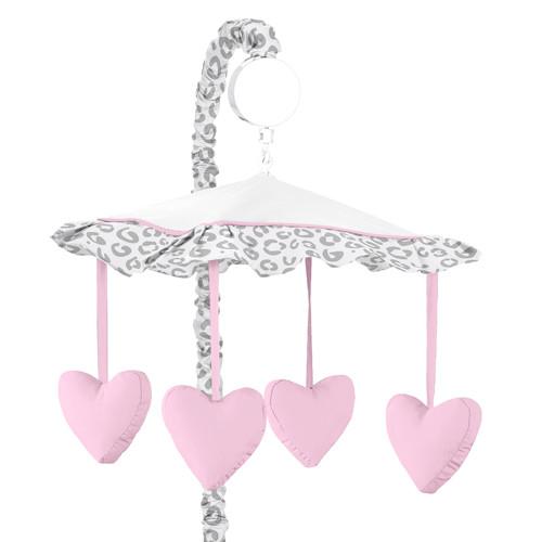 Sweet Jojo Designs Pink and Gray Kenya Collection Musical Mobile