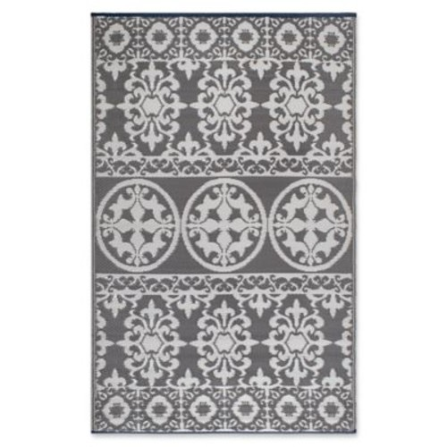 FH Home Murano 6-Foot x 9-Foot Indoor/Outdoor Area Rug in White