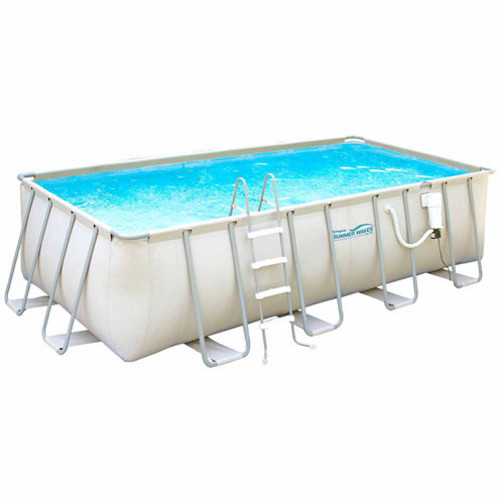 Summer Waves Elite 9-ft x 18-ft Rectangular 52-inDeep Metal Frame Swimming Pool Package