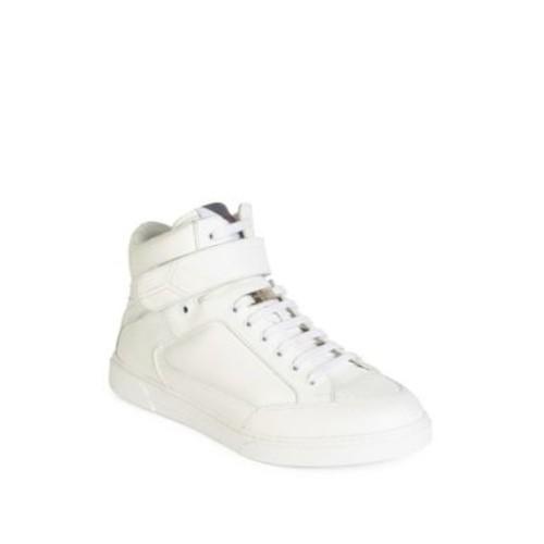 SAINT LAURENT Hi-Top Leather Sneakers