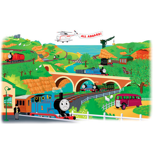 Roommates Rmk1081Gm Thomas And Friends Peel & Stick Giant Wall Decal