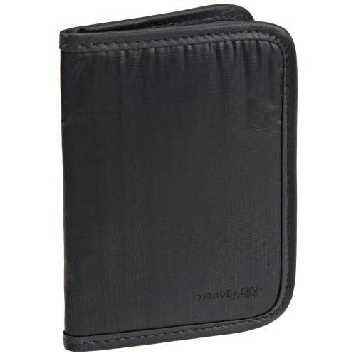 Travelon Safe ID RFID Blocking Ripstop Passport Case - Off Black