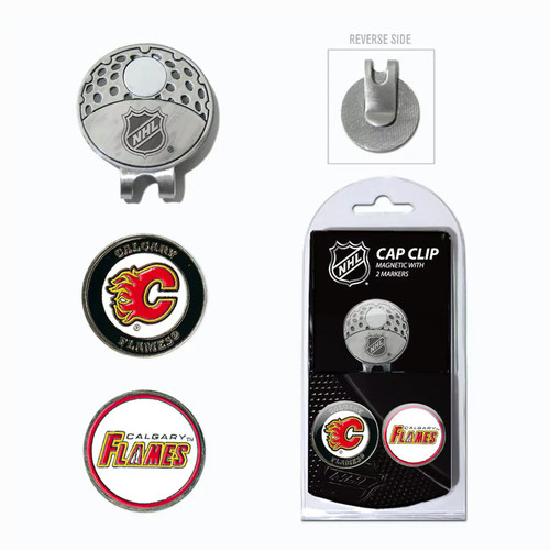 Team Golf Calgary Flames Cap Clip & Magnetic Ball Markers