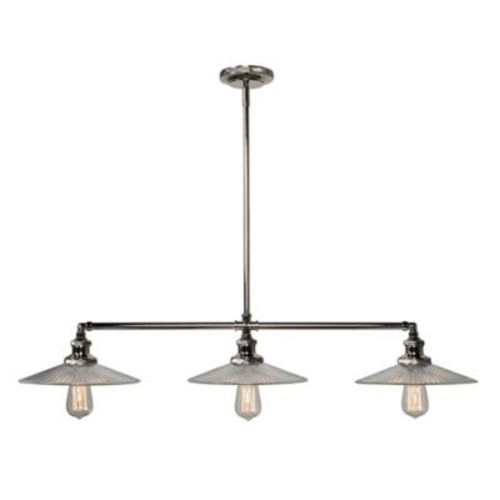Kenroy Home Ancestry 3-Light Pendant Island Ceiling Fixture in Polished Nickel