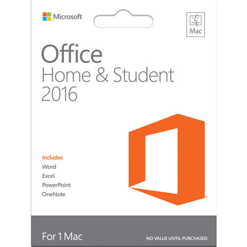Office Mac Home Student 2016
