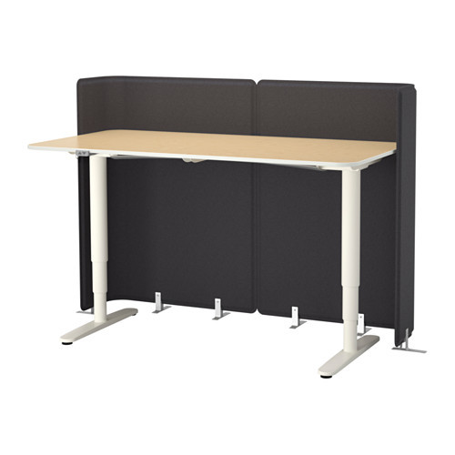 BEKANT Reception desk sit/stand, white