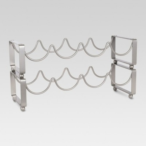 8 Bottle Steel Wine Rack - Threshold